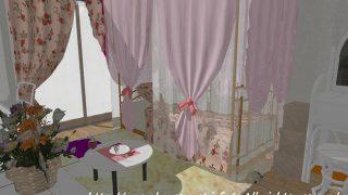 6帖のワンルームに、プリンセスお姫様ベッド・天蓋ベッドをコーディネート