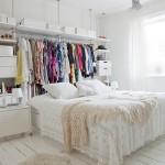 北欧スタイリッシュモダンなベッドルームの「見せる収納」は、こんなにお洒落!