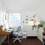 ミッドセンチュリーなデスクとIKEAのチェア&ファイルキャビネットでまとめた北欧のホームオフィス
